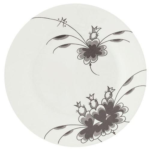 Grey Dancers, Flad tallerken Ø25 cm