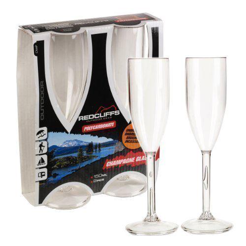 Redcliffs Outdoor Gear, 2 stk Champagneglas 150 ml
