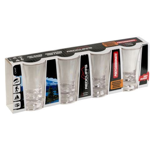 Redcliffs Outdoor Gear, 4 stk shotsglas 45 ml