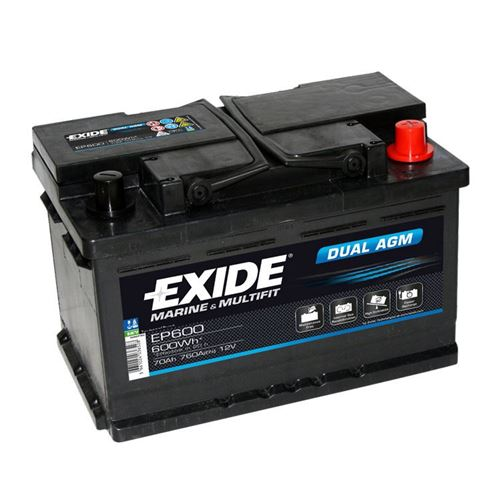 Batteri Exide EP600 70Ah