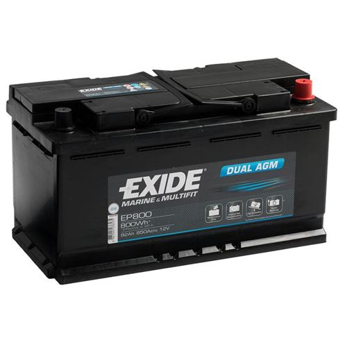 Batteri Exide EP800 92Ah