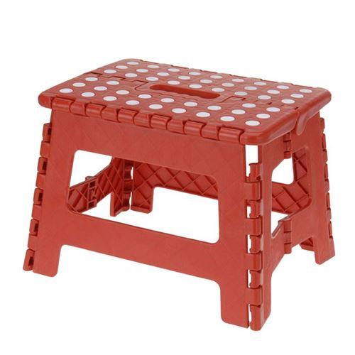 Foldbar skammel/trappetrin - rød