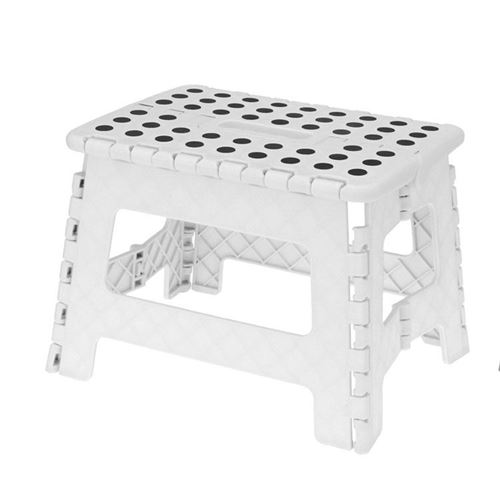 Foldbar skammel/trappetrin - Hvid
