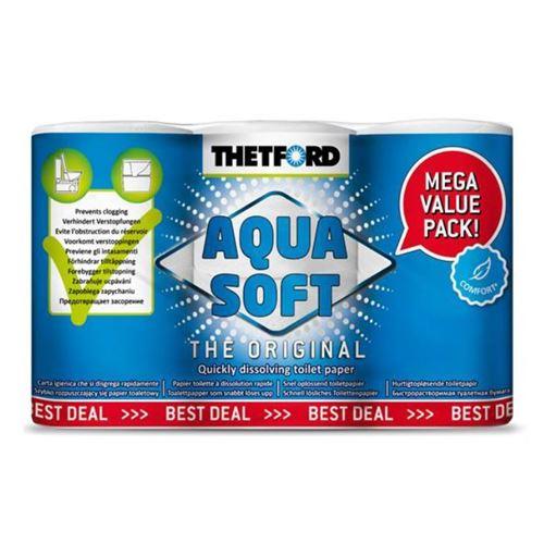Thetford Aqua Soft toiletpapir - 6 ruller