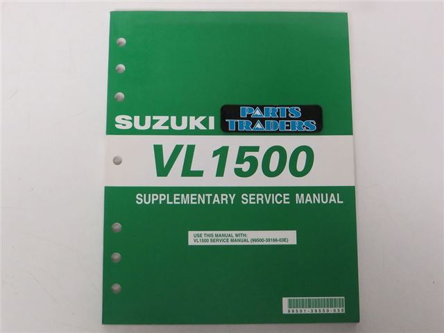 VL1500 Supplementary Service Manual