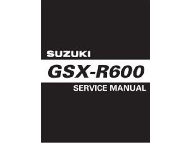 GSXR600 Service Manual