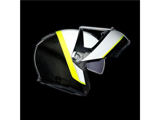 AGV Sport Modular Carbob/White/Yellow L