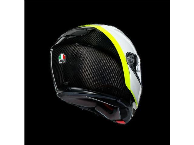AGV Sport Modular Carbon/White/Yellow XXL