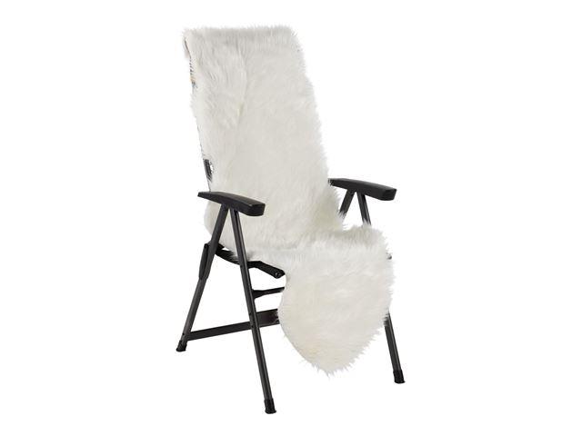 Kunstigt pelsskind 60x180cm - Hvid
