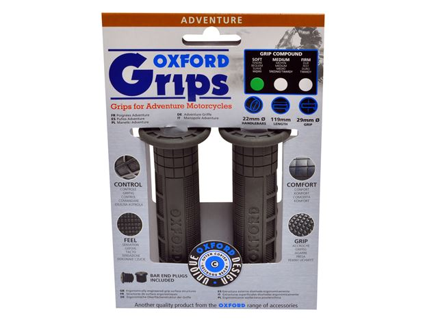 Oxford Adventurer grips(pair) MEDIUM