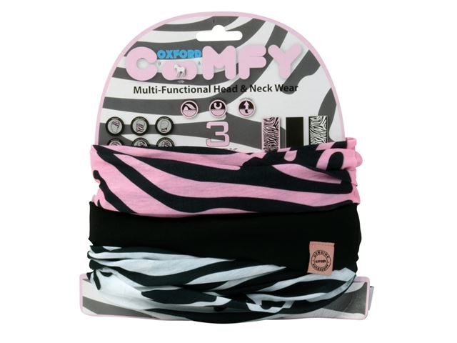 Oxford Comfy Zebra 3-Pack