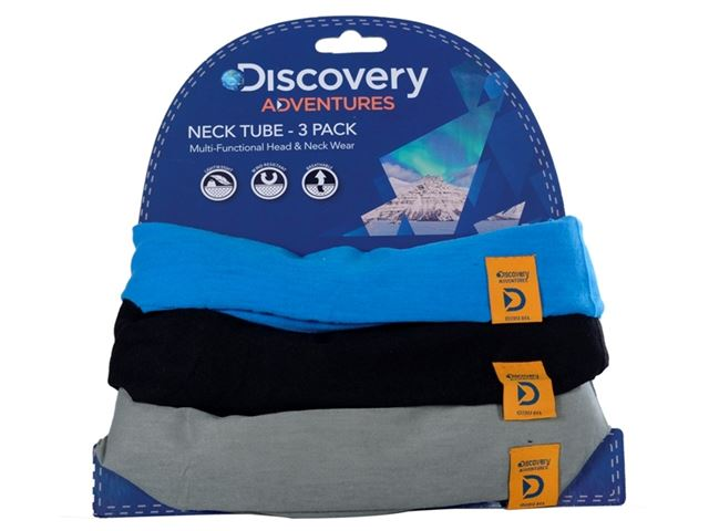 Discovery Adv Neck Tubes Blu/Blk/Gry 3 P