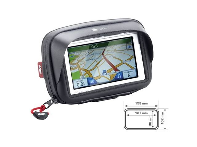 GIVI GPS HOLDER INDV. B.13,7 X H.8,6CM M. SKYGGE