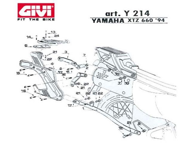 GIVI Mont.Kit TIL N140 XTZ660 TENERE