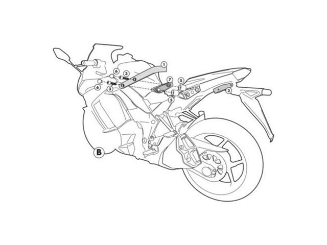 GIVI Mont.kit til PLXR4100 Uden 4100FZ