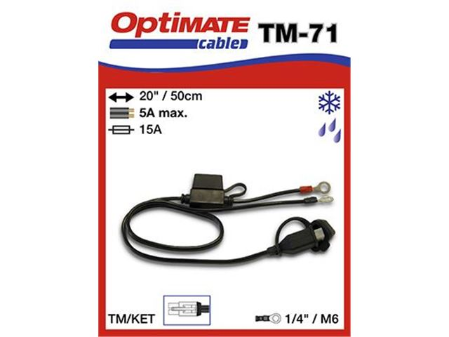 Weatherproof Permanent BATTERI Conector TM-71